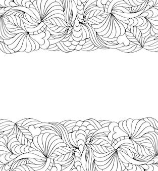 Цветочный абстрактный узор