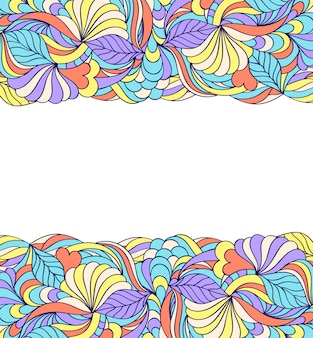Floral abstract pattern