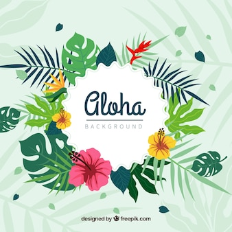 Floral aloha background