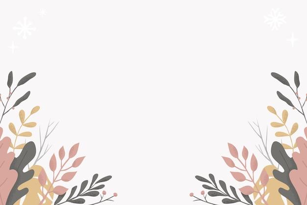 コピースペースと花と葉の背景