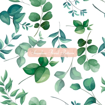Цветочные и листья дизайн бесшовные модели