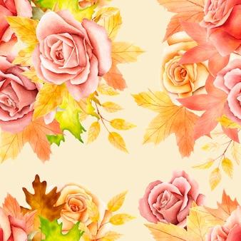 Цветочные и листья бесшовные модели