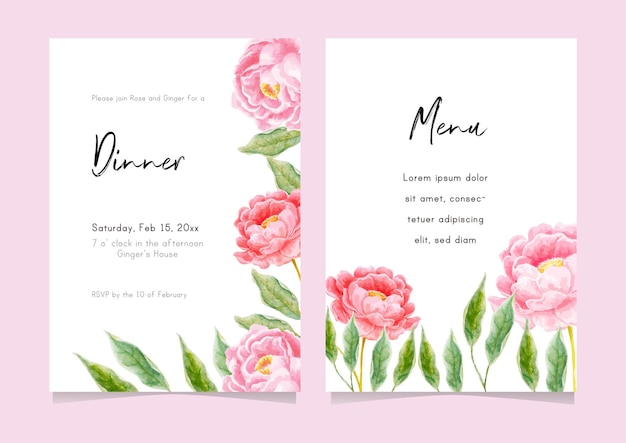 Floral arrangement element for wedding card, greeting card, calendar, banner, wallpaper