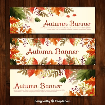 Floral autumn banners