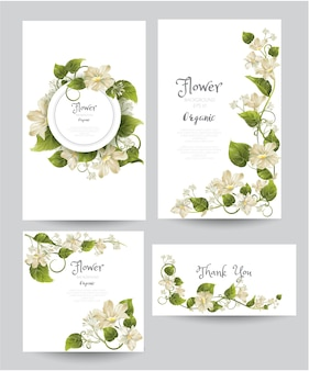 Floral background and card