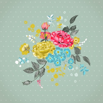 Floral background  for design, scrapbook  in vector