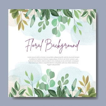 Floral background design with beautiful leaves