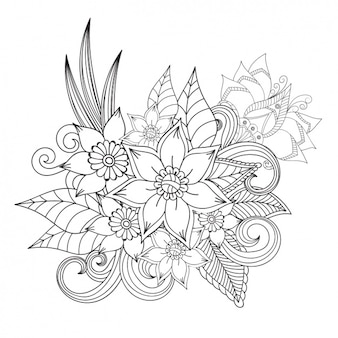 Flower Outline Vectors Photos And PSD Files