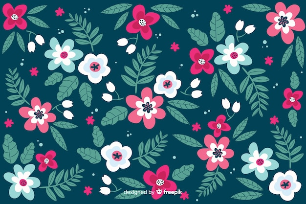 Floral background in ditsy style