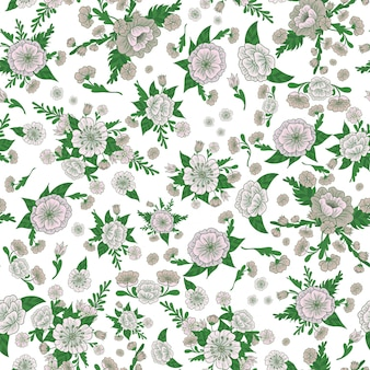 Floral background. flowers seamless pattern