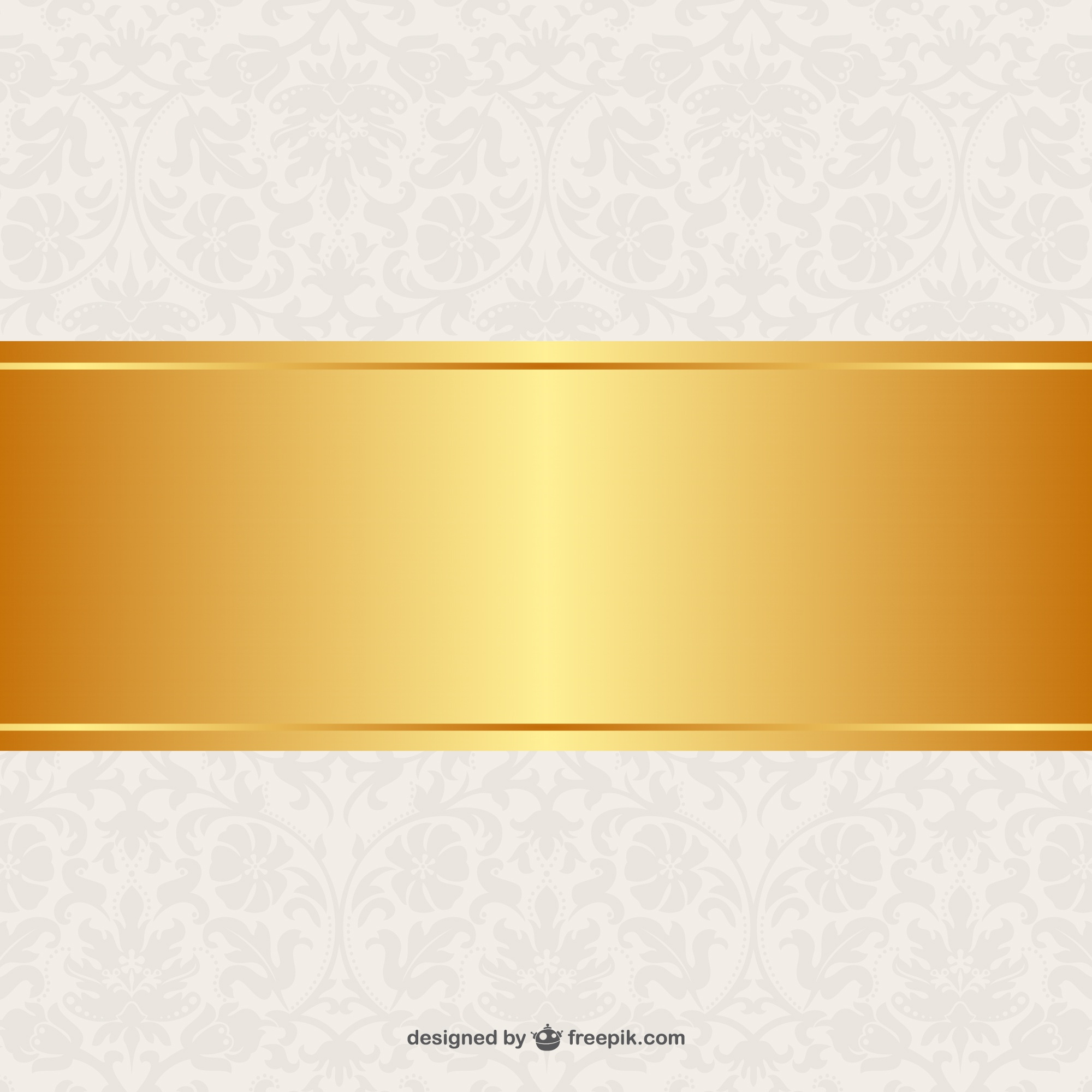 Floral background golden banner design