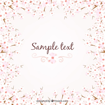 Floral background in spring style