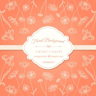 Floral background in vintage style