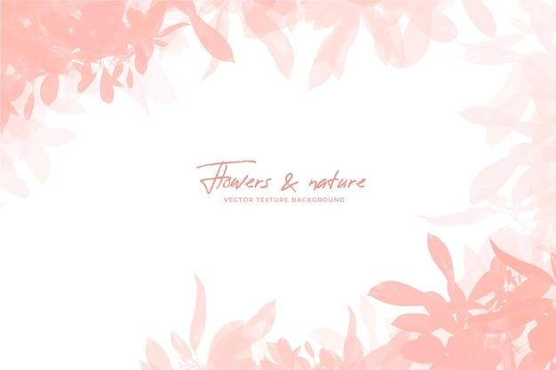 桃色の水彩風の花の背景