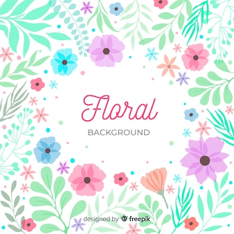 Floral background lettering surrounded by nature