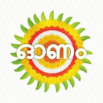 Floral background for onam festival
