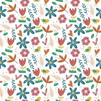 Floral background of spring