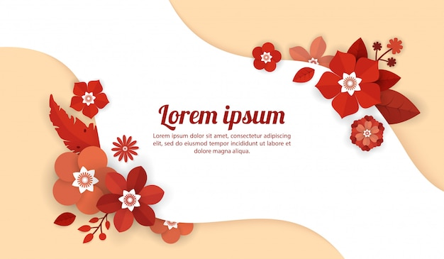 Floral background template for celebration, shopping events, holiday and greeting, invitation cards