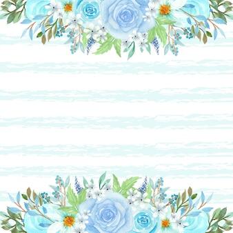 아름 다운 푸른 꽃과 꽃 배경