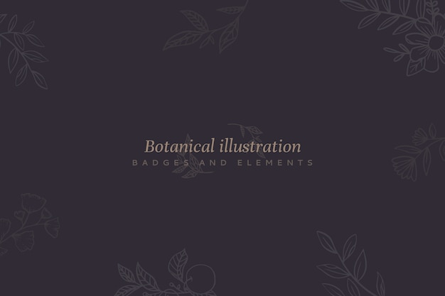 Floral background with botanical illustration
