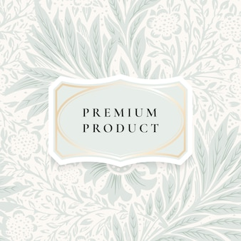 Floral background with centered frame