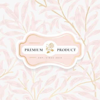 Floral background with centered ornamental frame