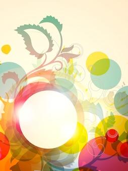 ベクトル、花、背景、デザイン、アートワーク