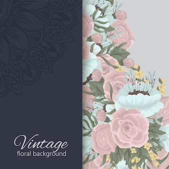 Floral background with colorful flower.
