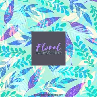 Sfondo floreale con foglie colorate