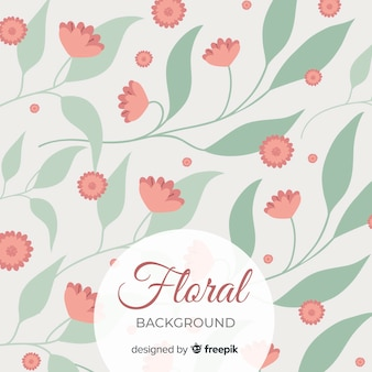 Floral background with cute green leaves background