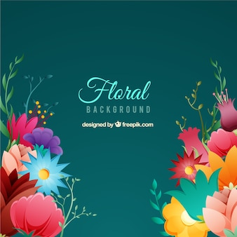 Floral background with different species