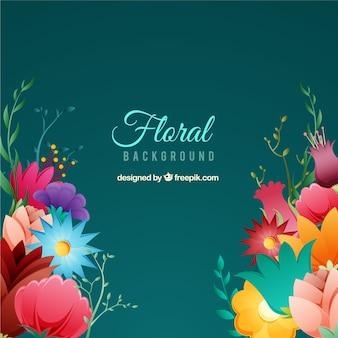 異なる種の花の背景