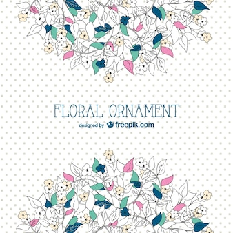 Floral background with dots