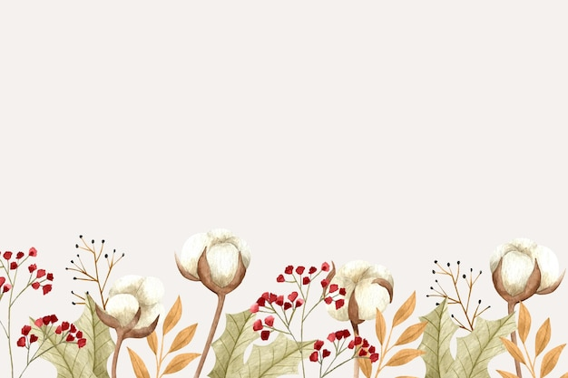 空のスペースと花の背景