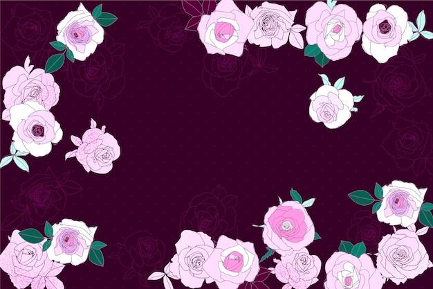 빈 공간을 가진 꽃 배경