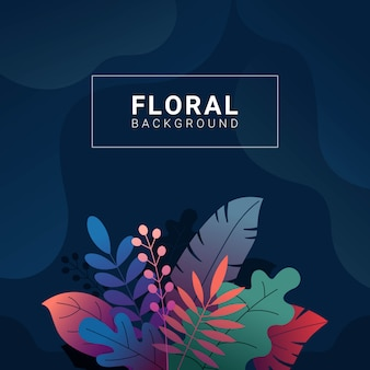 Floral background with gradient colors