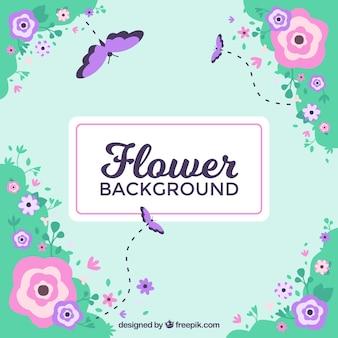 사랑스러운 스타일과 꽃 배경