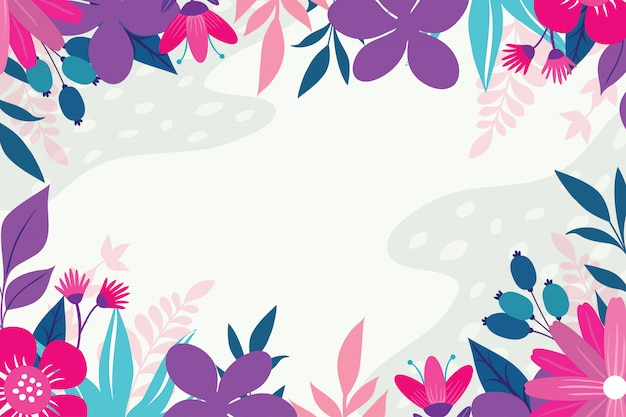 Floral background with pastel color