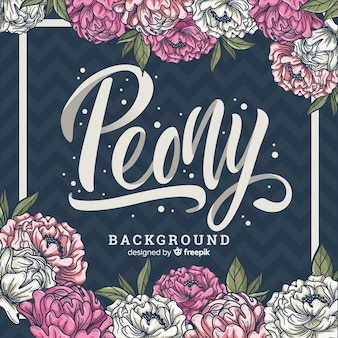 Floral background with peony concept
