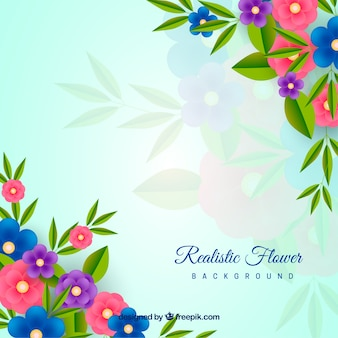 Floral background with realistic style