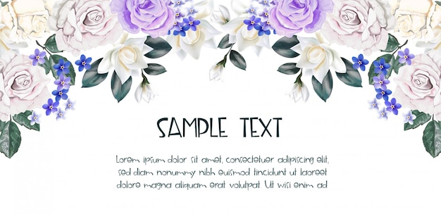 Floral background with rose background