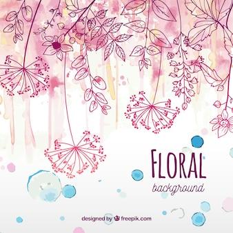 水彩スタイルの花の背景