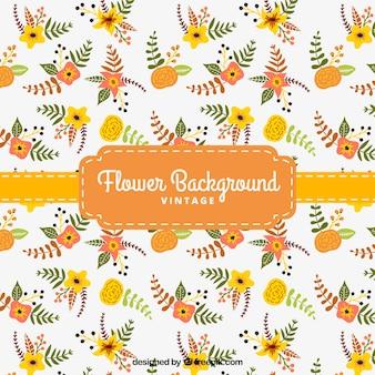Sfondo floreale in tonalità di giallo e arancio
