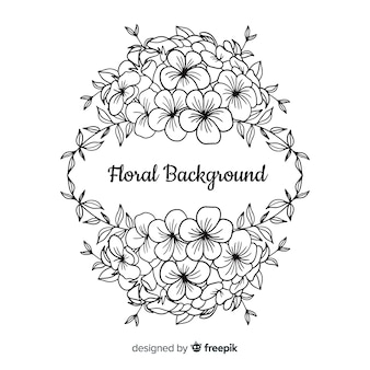 Flower Vector Black And White