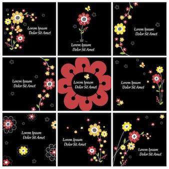 Коллекция цветочные фоны