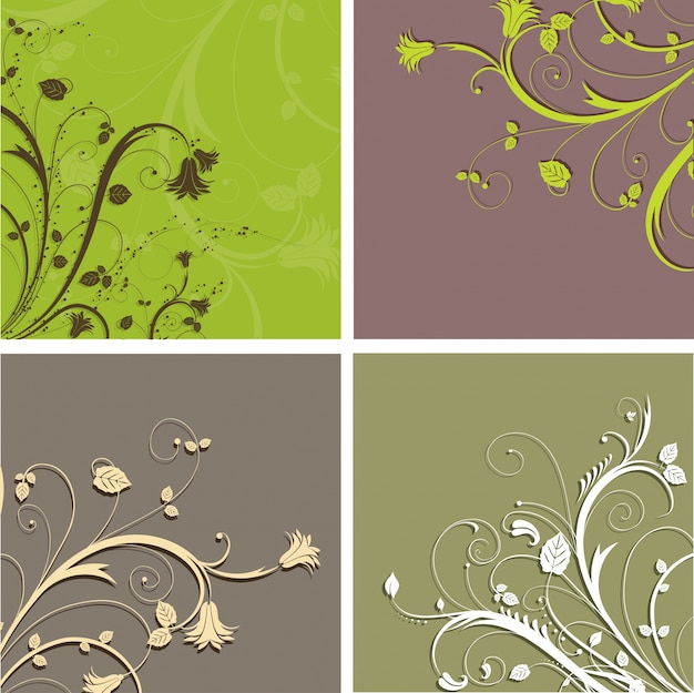 Floral backgrounds in earthy tones