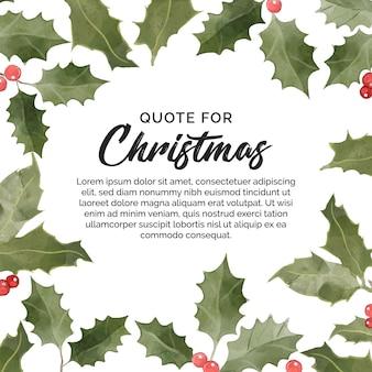 クリスマスの引用のための花のバナー
