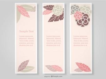 Floral Banner Set Rose Design