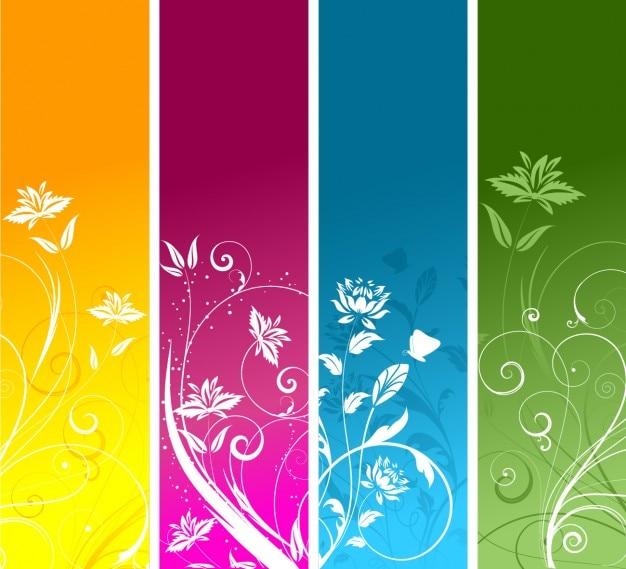 Цветочные баннеры коллекция