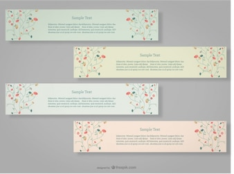 Floral Banners Set Design